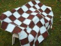 Looking for a one of a kind handmade quilt, rag quilt