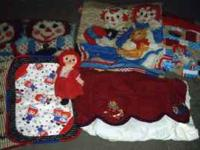 Raggedy Ann & Andy: Doll $5.00; fleece blanket $5.00;