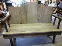 Hand built by woodworking hobbyistBench Seat. Made from