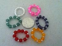 I have 6 different color rings handmade by me. The