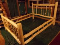This bed is all handmade. The guys logged the wood,