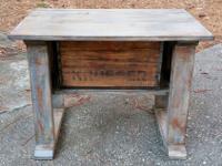 Handmade Rustic Wood Farm Style Utility/Side Table w/