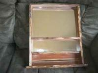Handmade Quality Pheart Cedar Mirror/shelf. Call  and