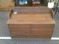 CHECK OUT THIS HANDMADE WOODEN TOY/STORAGE CHEST.  THIS