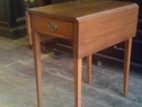 Handmade walnut end tables extended leaf very beautiful