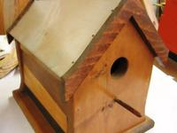 Handmade by Woodworking HobbyistWood Birdhouse with Tin