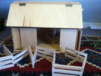 Brand New, solid wood, hand made children's barn.  Barn