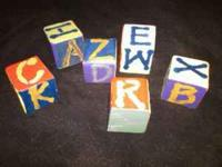 I have a set of 16 handmade wooden blocks. These were
