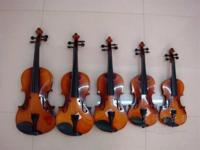 Handmade Maple and Basswood Violins. Violin descending