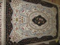 4'x6' Handmade Wool Needlepoint Persian Rug made in