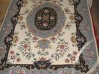Handmade Wool Needlepoint 4'x6' Persian Rug made in