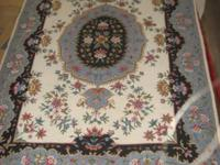 NEWLY REDUCED--Handmade Wool Needlepoint 4'x6' Persian