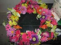 "Handmade Wreath measures 18"" $25 Call or text  Email"