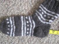 Ecological hand knitted socks from goat down (grown