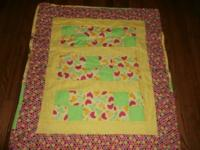 Yellow baby quilt. 36x40 All fabric bought from Hancock