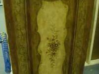 Liquor Cabinet W/ Floral Design Front rotates to reveal