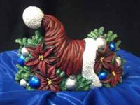 "Hand Painted, Ceramic Bisque, 8.5"" Long x 5.5"" tall -"