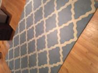 Homespun Moroccan Trellis Rug - good condition except