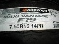 I HAVE 4 HANKOOK 7.50R16  TRAILER TIRES 14 PLY RETAIL