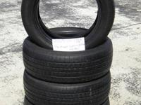 SET OF 4 USED TIRE Hankook Optimo 2055516  	FOR MORE