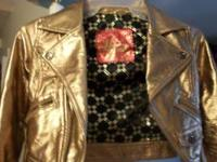 ORIGINAL HANNAH MONTANA GOLD COLOR JACKET SIZE 5-T
