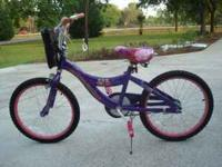 For sale is an almost new hannah montana girl's bike.