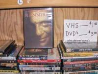 We have hundreds of DVDs for sale for $3.00 each. This