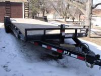 2012 gently used PJ 24' trailer, used 1 time, don't
