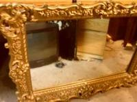 Beautiful big sized plastic wall mirror, with intricate