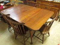 6 Chairs and table all solid cherry. $575 for the set.