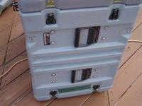Military Hardigg/Pelican cases used for electronics. If