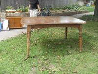nice hardwood table...would be great for painting a fun