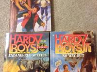 For sale are three paperback Hardy Boys books. See