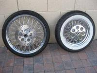 "21"" x 2.5 80 spoke front wheel and 16"" 80 twisted spoke"