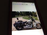 2007 softail, white with loads of chrome, loads of