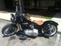 Here is a custom built Harley Bobber. Clover CycleWorks