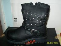Harley Davidson boots and shoes, 50.00 dollars apiece.