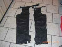 I have a pair of Harley chaps. Size XXL. Great Shape.