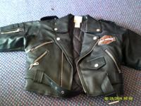 Harley Davidson child's faux leather jacket size 5-