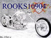 """You are viewing one 8"""" X 10"""" Black & White Motorcycle"""