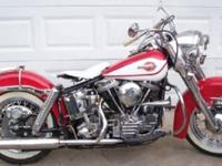 1960 Harley Davidson Duo Glide Pan Head FLH. Bike runs
