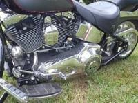 2004 Harley Fat Boy: Approx 6,000 miles, Purple and