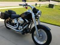 2002 Harley-Davidson FLSTF Fat Boy, Saddle bags, Vance
