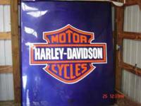 NICE HARLEY FLAT FIBERGLASS TOPPER WITH CLAMPS FITS