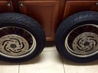 Front & Rear wheels are in excellent condition and are