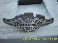 HARLEY DAVIDSON HITCH COVER, ALL ALUMINUM, 25.00. CALL