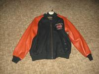 Leather Harley jacket in excellent condition. Please