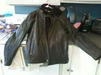 Black leather Harley Davidson jacket....only worn