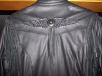 Women's Harley Davidson leather coat, just worn two