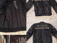 Harley Davidson Leather Jacket. Size Medium. Only worn